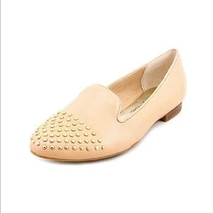 MARC FISHER Surri Studded Nude Leather Flat